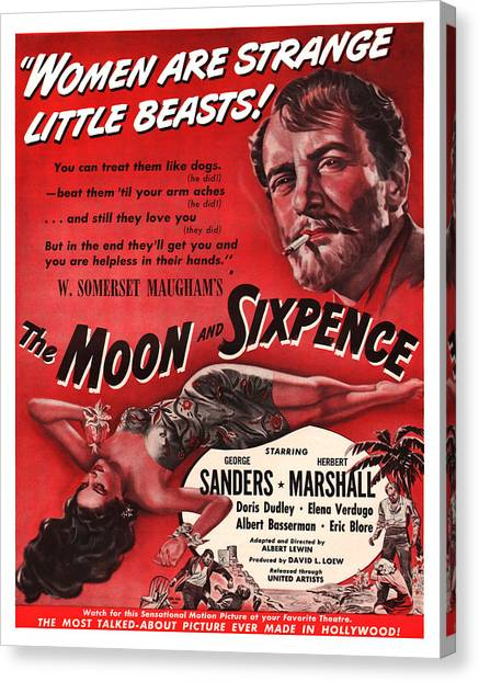 1942 The Moon And Sixpence Canvas Print