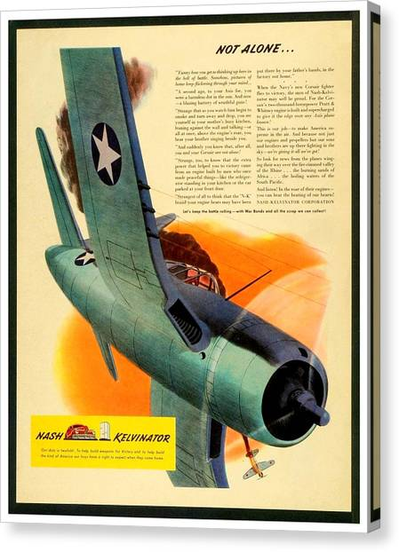1943 - Nash Kelvinator Advertisement - Corsair - United States Navy - Color Canvas Print