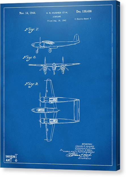 Paper airplane canvas prints page 2 of 11 fine art america paper airplane canvas print 1944 howard hughes airplane patent artwork 3 blueprint by nikki marie malvernweather Choice Image