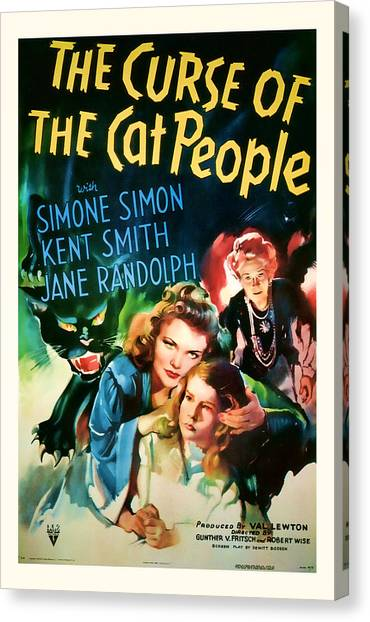 1944 The Curse Of The Cat People Vitage Movie Art Canvas Print