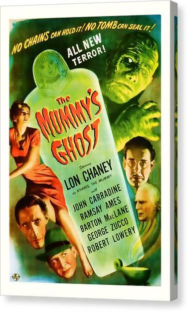 1944 The Mummys Ghost Vintage Movie Art Canvas Print