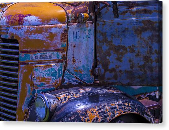 Rusty Truck Canvas Print - 1946 Dodge Coe by Garry Gay