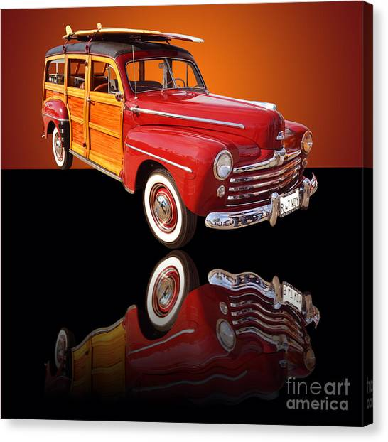 1947 Ford Woody Canvas Print