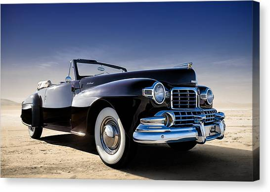 Yachts Canvas Print - 1947 Lincoln Continental by Douglas Pittman