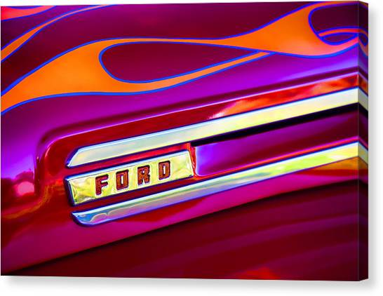 Ford Truck Canvas Print - 1948 Ford Pickup by Carol Leigh