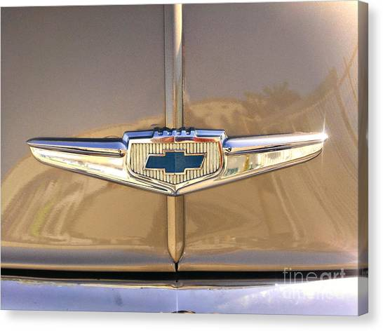 1949 Chevy Symbol  Canvas Print by Andres LaBrada
