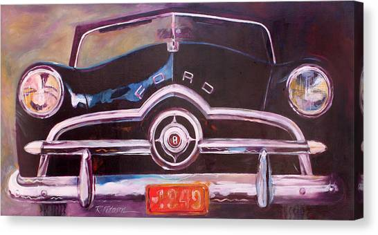 1949 Ford Canvas Print by Ron Patterson
