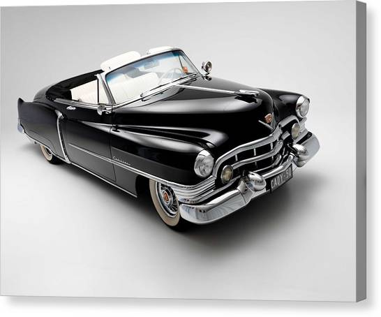 Classic Hotrod Canvas Print - 1950 Cadillac Convertible by Gianfranco Weiss