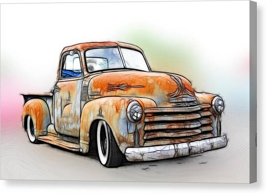 Canvas Print - 1950 Chevy Truck by Steve McKinzie