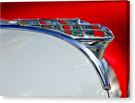 Coupe Canvas Print - 1950 Plymouth Hood Ornament 3 by Jill Reger