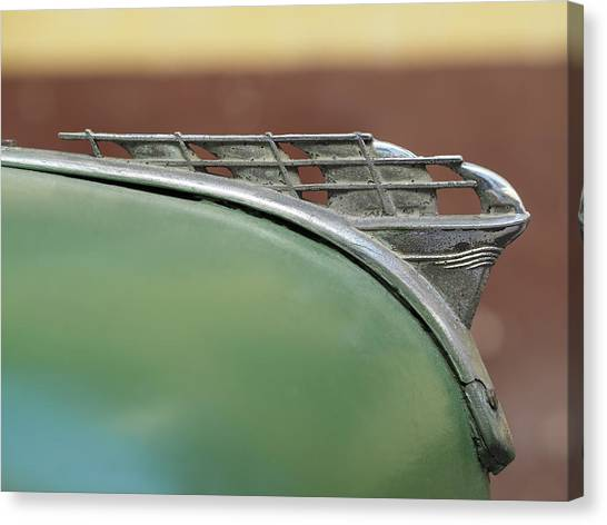 1950 Plymouth Hood Ornament - Image Art By Jo Ann Tomaselli Canvas Print