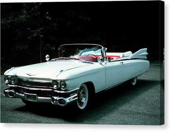 Motoring Canvas Print - 1950s 1959 El Dorado Biarritz Cadillac by Vintage Images
