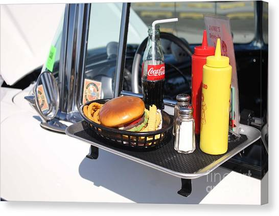 1950's Drive In Movie Snack Tray Canvas Print