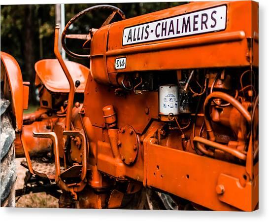 Tractors Canvas Print - 1950s-vintage Allis-chalmers D14 Tractor by Jon Woodhams