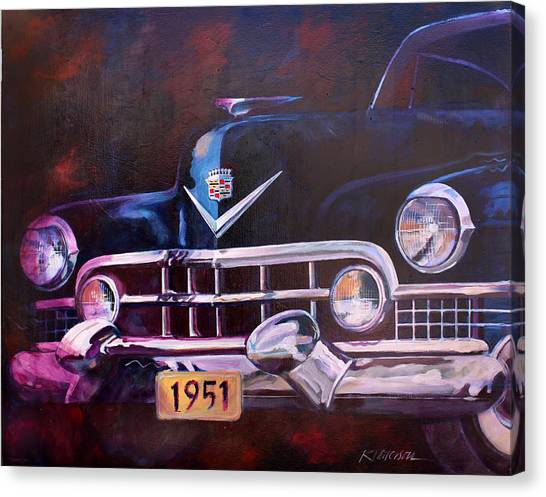 1951 Cadillac Canvas Print by Ron Patterson