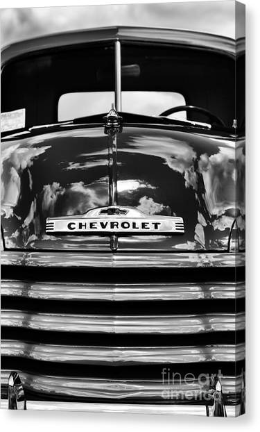 Front End Canvas Print - 1951 Chevrolet Pickup Monochrome by Tim Gainey