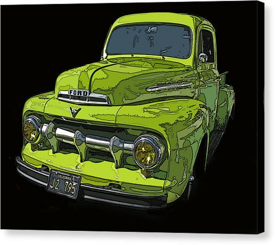 1951 Ford Pickup Truck Canvas Print