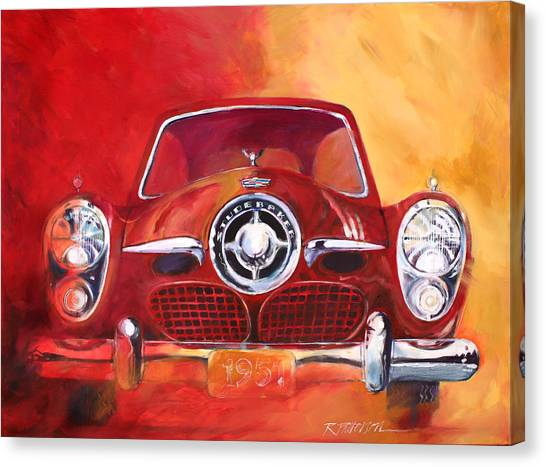 1951 Studebaker Canvas Print by Ron Patterson