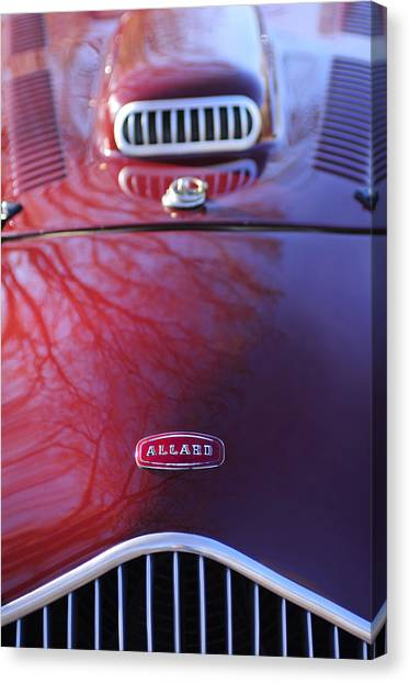 K2 Canvas Print - 1952 Allard K2 Factory Special Roadster Grille Emblem by Jill Reger