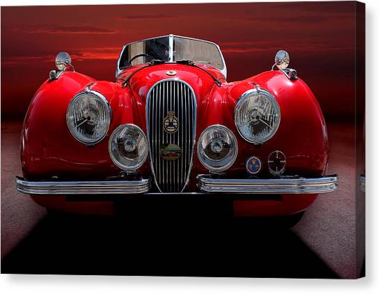 1952 Jaguar Xk120  Canvas Print by Radoslav Nedelchev