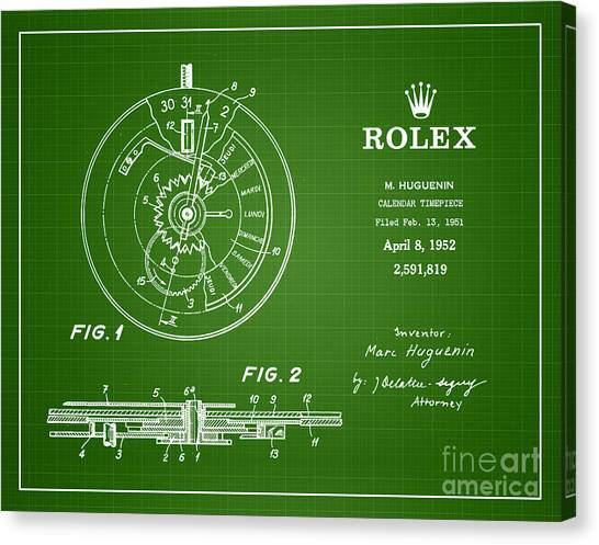 1952 Rolex Calendar Timepiece 2 Canvas Print by Nishanth Gopinathan