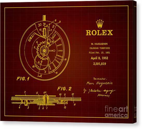 1952 Rolex Calendar Timepiece 3 Canvas Print by Nishanth Gopinathan