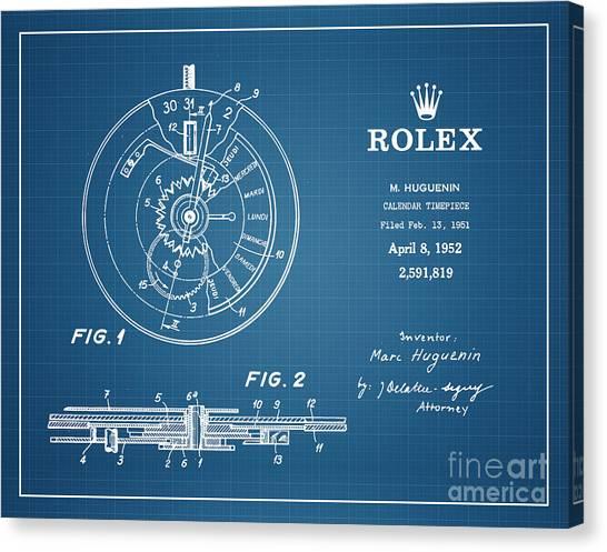 1952 Rolex Calendar Timepiece 4 Canvas Print by Nishanth Gopinathan