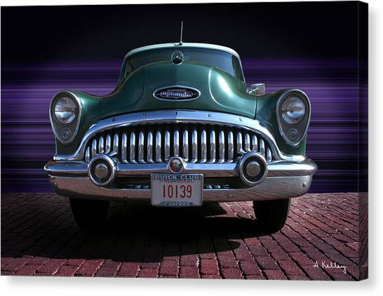 1953 Buick Canvas Print by Andrea Kelley