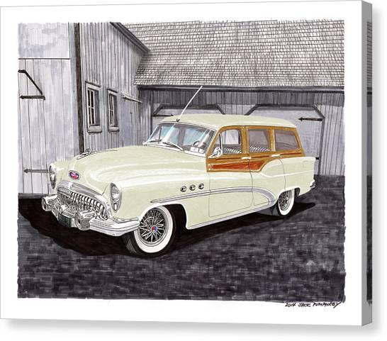 Canvas Print - 1953 Buick Estate Wagon Woody by Jack Pumphrey
