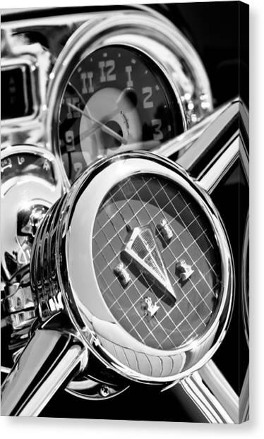 hudson cars canvas prints page 2 of 18 fine art america 1953 Nash Metropolitan Convertible hudson cars canvas print 1953 hudson convertible steering wheel 2704bw2 by jill reger
