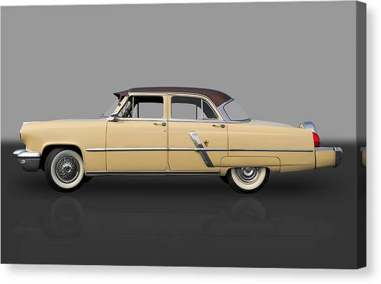 1953 Lincoln Canvas Print by Frank J Benz