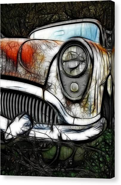 Canvas Print - 1954 Buick Art by Steve McKinzie