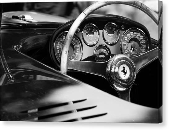 1954 Ferrari 500 Mondial Spyder Steering Wheel Emblem Canvas Print