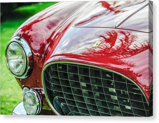 Europa Canvas Print - 1954 Ferrari Europa 250 Gt Grille -1336c by Jill Reger