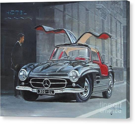 1954 Mercedes Benz 300 Sl Gullwing Canvas Print