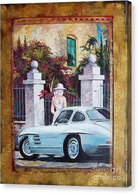 1954 Mercedes Benz Sl 300 Gullwing Canvas Print