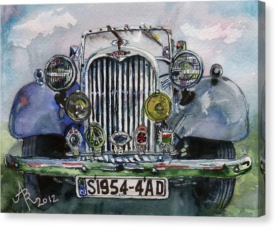 1954 Singer Car 4 Adt Roadster Canvas Print
