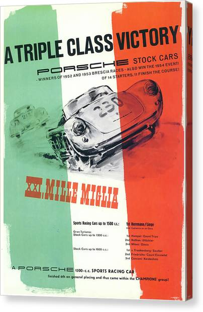 1954 Xxi Mille Miglia Canvas Print