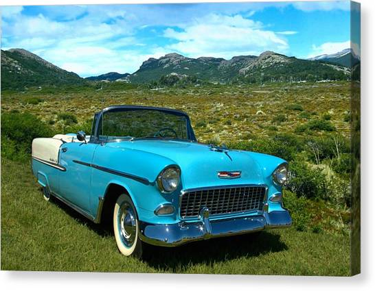 1955 Chevrolet Convertible Canvas Print