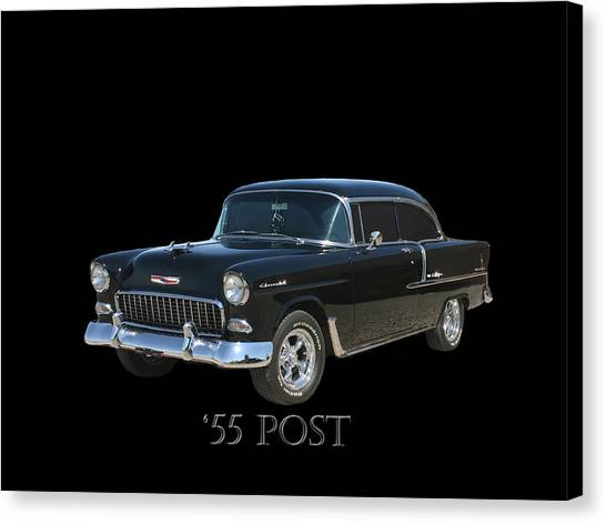 Canvas Print - 1955 Chevy Post by Jack Pumphrey