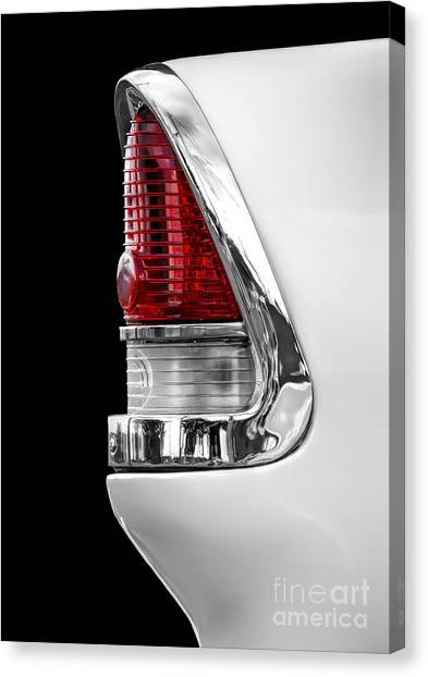 1955 Chevy Rear Light Detail Canvas Print
