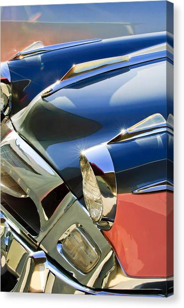 Front End Canvas Print - 1955 Studebaker President Front End by Jill Reger