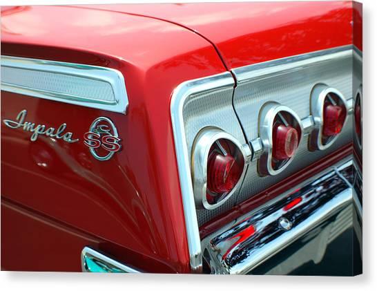 1956 Chevrolet Impala Ss Taillights 2 Canvas Print by DJ Monteleone