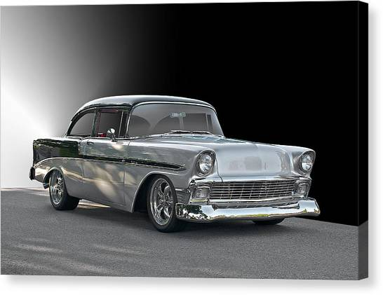 1956 Chevrolet 'post' Coupe Canvas Print by Dave Koontz