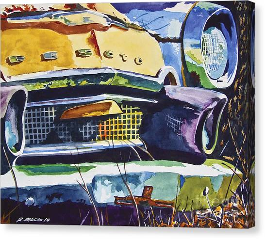 1956 Desoto Abstract Canvas Print by Rick Mock