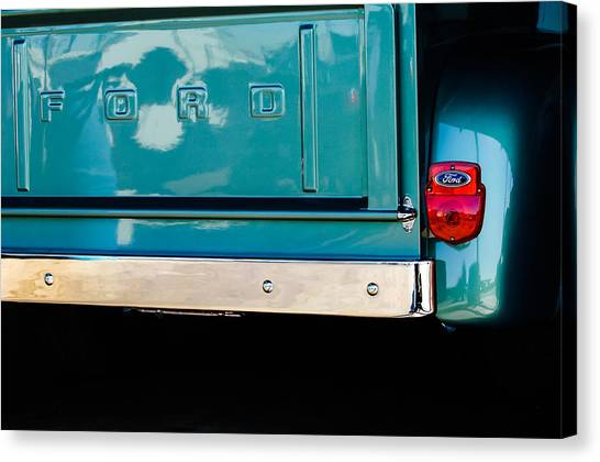 Ford Truck Canvas Print - 1956 Ford F-100 Truck Taillight 2 by Jill Reger