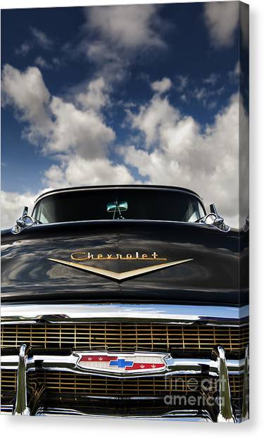 1957 Black Chevrolet Bel Air  Canvas Print