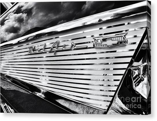 1957 Chevrolet Bel Air Monochrome Canvas Print