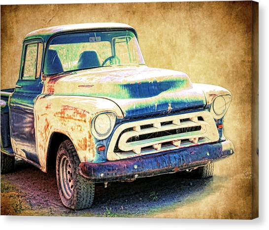 Canvas Print - 1957 Chevrolet Pickup by Steve McKinzie