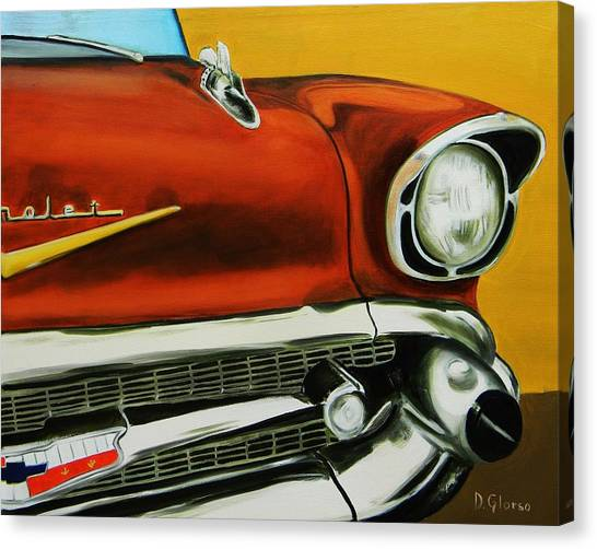 1957 Chevy - Coppertone Canvas Print